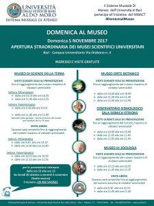 domenica al museo Università di Bari